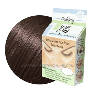 Godefroy Shape & Tint Permanent Eyebrow Color & Shaping Kit - Dark Brown