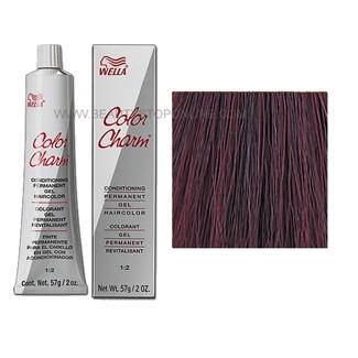 Wella Color Charm Permanent Gel 3rv 367 Black Cherry